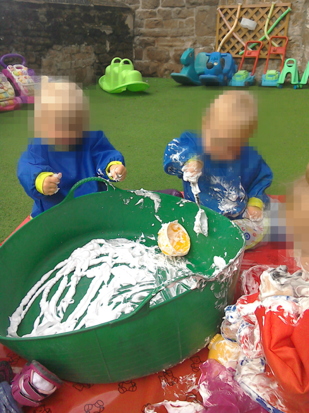 Providing various stimuli at our Liverpool Day Nursery